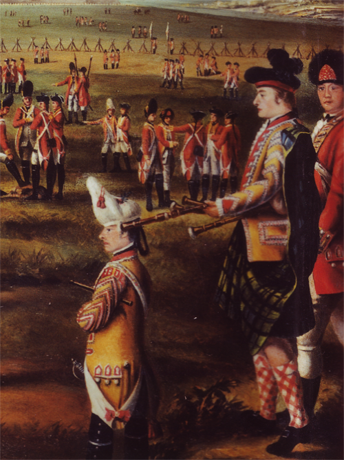 Piper and Drummer of the 25th Foot at Minorca, 1771